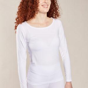 tee shirt manches longues blanc femme