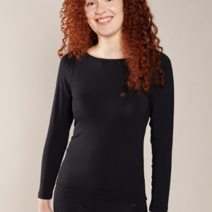 tee shirt manches longues femme noir
