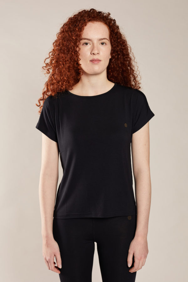 tee shirt manches courtes femme noir